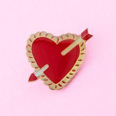 heart and arrow pin   ban.do