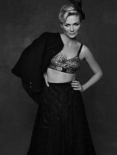 """Little Black Jacket"" – Celebrities in black Chanel Jackets photographed by Karl Lagerfeld"