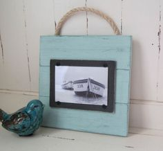 Sea Foam Green Plank Frame for 4x6 by ProjectCottage on Etsy, $27.95