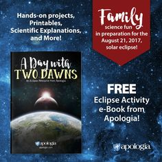 What better way to turn lessons into life experience than to enjoy a FREE e-Book from Apologia to help you prepare for the August 21st total eclipse!   Packed with hands-on science activities, printables, diagrams, and lessons. Written for the entire family to enjoy. Download today at http://homeschool-101.com/eclipse.   #exploringcreation #homeschoolscience #eclipse2017