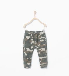 Camouflage print trousers from Zara Baby Boys