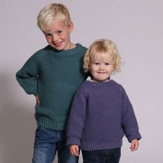 Ravelry: Alex Sweater in Seed Stitch pattern by Hobbii Design How To Start Knitting, Knitting For Kids, Baby Knitting, Free Knitting, Baby Cardigan Knitting Pattern, Chunky Knitting Patterns, Knit Patterns, Stitch Patterns, Baby Sweaters