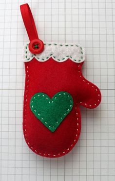 Your place to buy and sell all things handmade DIY Cozy Red Mitten Ornament KIT by StampandScrap on Etsy Christmas Sewing, Christmas Crafts For Kids, Homemade Christmas, Christmas Projects, Christmas Fun, Holiday Crafts, Felt Projects, Crochet Christmas, Rustic Christmas