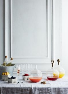 A make-your-own mimosa bar