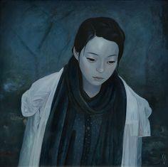 Joanne Nam #art #painting #portrait #blue