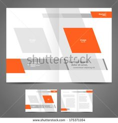 Green And Black Template For Advertising Brochure With Woman On