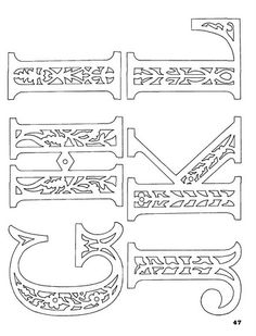 Filigrán - Írisz Magyar - Picasa Web Albums Plus Kirigami, Paper Art, Paper Crafts, Brother Scan And Cut, Scroll Saw Patterns, Alphabet And Numbers, Monogram Letters, Colouring Pages, Laser Engraving