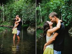 Romantic river engagement shoot. Julian Beattie.