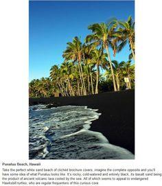 Black sand beach, Hawaii Wow :)