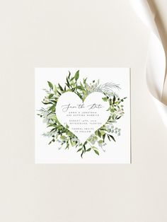Greenery Save the Date Template Laurel Save the Date Card Safe The Date Karten, Save The Date Templates, Save The Date Cards, Greenery, Invitations, Wedding, Etsy, Card Wedding, Valentines Day Weddings
