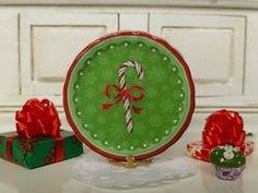 Christmas Sweet Cane Dollhouse Round by Twelvetimesmoreteeny, €3.00