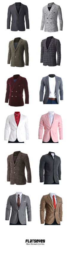 Men's #Blazer #Shop #FLATSEVEN www.flatsevenshop.com