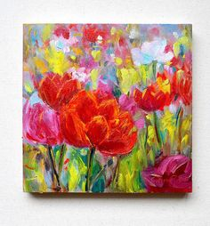 Image result for flower abstract painting