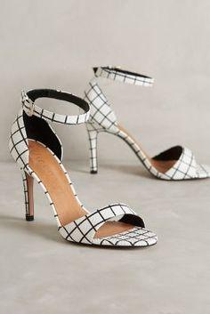 Vicenza Gridwork Heels Black & White 37 Euro Heels