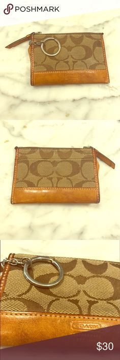 COACH coin purse Signature fabric. Very good used condition. Coach Bags Wallets
