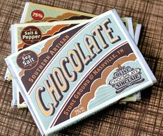 Olive & Sinclair #chocolate #package #design