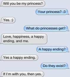 That is so adorable, wish a boy would text me that! lol