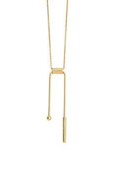 Geo balance necklace - 18k gold - La Terra