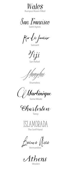 Best Calligraphy Fonts for Weddings   Snippet & Ink