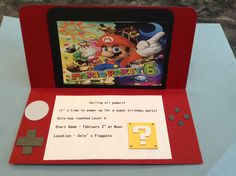 Mario bros invitation