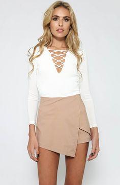 Nicholls Bodysuit - White from peppermayo.com