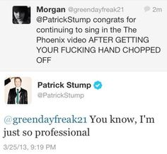 (excuse the language) lol Patrick