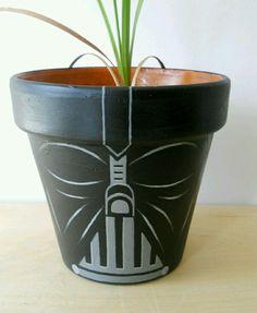 DIY Darth Vader Pottery