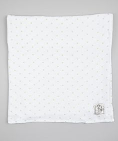 Celadon Muslin Mini Dot Receiving Blanket