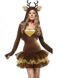 Cheap santa sexy, Buy Quality dress santa directly from China dress fashion Suppliers: Fashion Winter Clothing Sexy Santa Claus Deer Costume Dress With Headwear Carnival Costumes For Women Disfraz Mujer Fantasias Reindeer Costume, Animal Halloween Costumes, Halloween Kostüm, Halloween Outfits, Halloween Cosplay, Santa Costumes, Women Halloween, Pirate Costumes, Couple Halloween