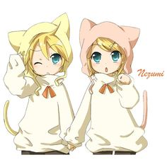 Render Vocaloid Kagamine Len Rin Neko Blonds - Vocaloid - Musiques -... ❤ liked on Polyvore featuring anime, drawings, manga and render