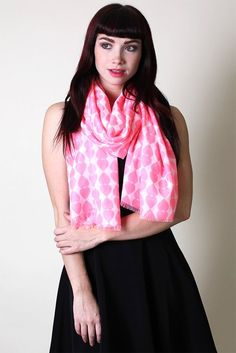 Women's Sweet Hearts Pink Valentine Oversize Fashion Scarf Shawl Wrap Sarong: Amazon.co.uk: Clothing