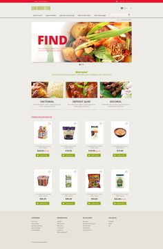 PrestaShop Theme , Asian Grocery Store