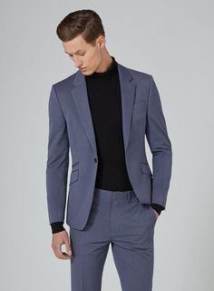 Make your mark this season with a sharp men's suit from Topman. Shop online for on-trend slim fit, skinny, and other modern fits. Topman Suits, Mens Suits, Fitted Suit, Tailored Suits, Dress Pants, Men Dress, Suits Direct, Blue Suit Men, Hate Men