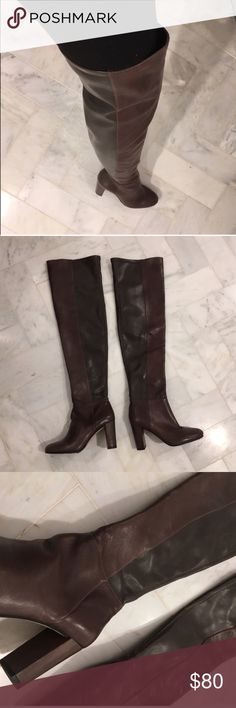 ✨New, Never worn✨ Over The Knee🔥 These fit pretty much thigh high. They are butter soft.  Sample sale purchase   Comes with dust bag no box. Two toned brown and gorgeous.  ‼️No Trades please‼️ Price is Generous Fair and Firm unless Bundled🙂 Vince Camuto Shoes Over the Knee Boots