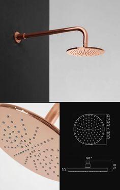 Copper Finish Shower Heads   Copper Bathroom Taps   Luxury Showers