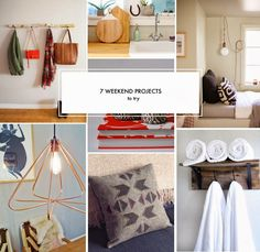 7 Weekend Projects to Try- Some might be easy but lights are harder & not for everyone.