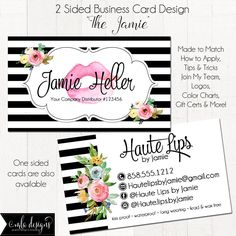 LipGloss Business Card, Makeup Artist Business Card, Watercolor Cottage, Custom Business Card, Loyalty Card, Marketing, Branding Materials by MLAdesigns on Etsy https://www.etsy.com/listing/534758369/lipgloss-business-card-makeup-artist