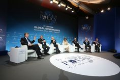 """Thierry de Montbrial, Founder and Chairman of the WPC, introduces the purpose and the speakers of Session 6, titled """"The future of the Middle East""""."""