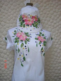 Pink Hibiscus with Detailed Leaves, Upper Chest Design on White (no link, store closed)