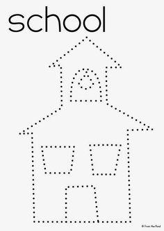 Schoolhouse Pinning Page  freebie