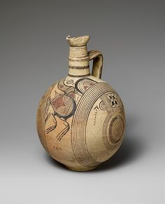 Terracotta jug Period: Cypro-Archaic I Date: B. Ceramic Clay, Ceramic Pottery, Pottery Art, Ancient Greek Art, Ancient Greece, Greek Pottery, Art Brut, Terracota, Ancient Artifacts