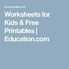 Preschool worksheets help your little one develop early learning skills. Try our preschool worksheets to help your child learn about shapes, numbers, and more. Social Studies Worksheets, 1st Grade Worksheets, Free Printable Worksheets, Preschool Worksheets, Free Printables, Special Education Classroom, Kids Education, Fun Activities For Toddlers, Literacy Activities