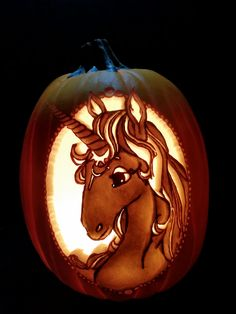 Best representation descriptions: Unicorn Pumpkin Carving Patterns Related searches: Easy Unicorn Pumpkin Carving Stencils,Unicorn Jack O L. Batman Pumpkin Carving, Unicorn Pumpkin Stencil, Funny Pumpkin Carvings, Scary Pumpkin Carving, Creepy Pumpkin, Amazing Pumpkin Carving, Carving Pumpkins, Printable Pumpkin Carving Patterns, Unique Pumpkin Carving Ideas