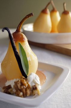 Poached Pears in Vanilla Sage Wine Sauce by Sam Henderson of Today's ...
