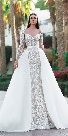 """If the words """"gorgeous long sleeve wedding dress"""" set your heart racing, you're in for a treat. Find your perfect long-sleeve wedding dress! Wedding Dress Trumpet, Wedding Robe, Luxury Wedding Dress, Long Sleeve Wedding, Wedding Dress Sleeves, Cheap Wedding Dress, Boho Wedding Dress, Dream Wedding Dresses, Bridal Dresses"""