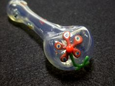 Glass Pipe Color Changing Glass with Flowers and by LoudActions, $16.00 ( marijuana cannabis ) http://Teagardins.com
