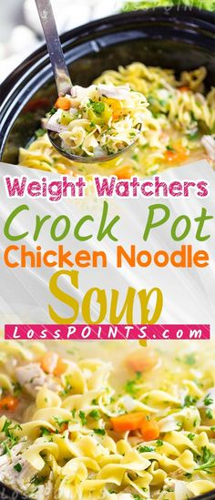 Crock Pot Chicken Noodle Soup Recipe – Loss Points Crock Pot Chicken Noodle Soup Recipe – Loss Points,Weight Watchers SmartPoints Crock Pot Chicken Noodle Soup Recipe – Loss Points Related posts:Chicken Pot Pie with. Weight Watcher Dinners, Plats Weight Watchers, Weight Watchers Soup, Weight Watchers Chicken, Ww Recipes, Slow Cooker Recipes, Crockpot Recipes, Chicken Recipes, Recipe Chicken