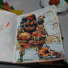 Piratas de agua dulce.  lápices de colores.
