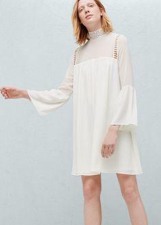 Bell sleeve dress |  MANGO