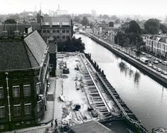 Zuidergrachtswal (vanuit Amicitia), 1984. Bron: Historisch Centrum Leeuwarden - Beeldbank Leeuwarden